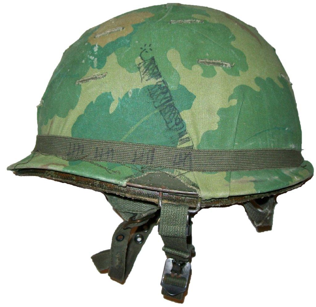 Hjälm M-1C Para Mitchell 1st Cavalry Vietnam Original